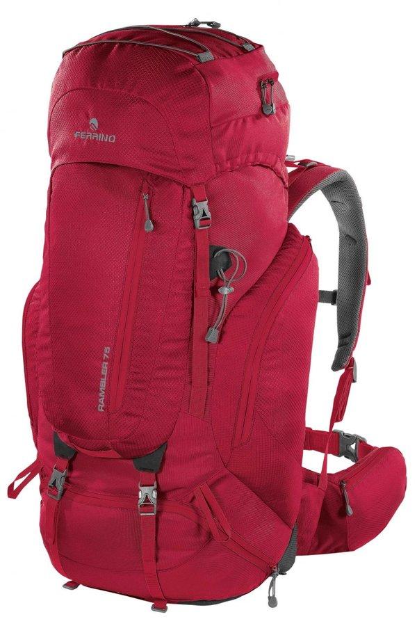 Červený turistický batoh RAMBLER 75, Ferrino - objem 75 l