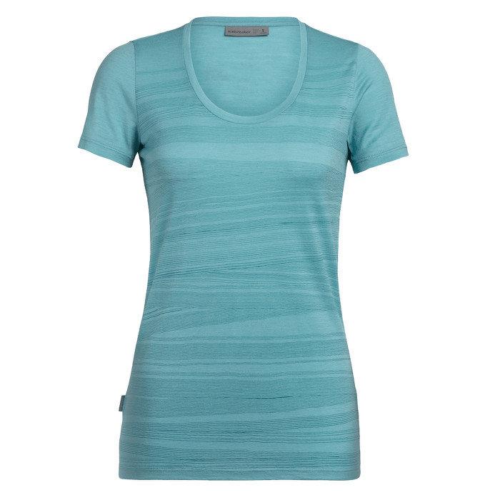 Merino dámské tričko Tech Lite SS Scoop 1000 Lines, Icebreaker - velikost M