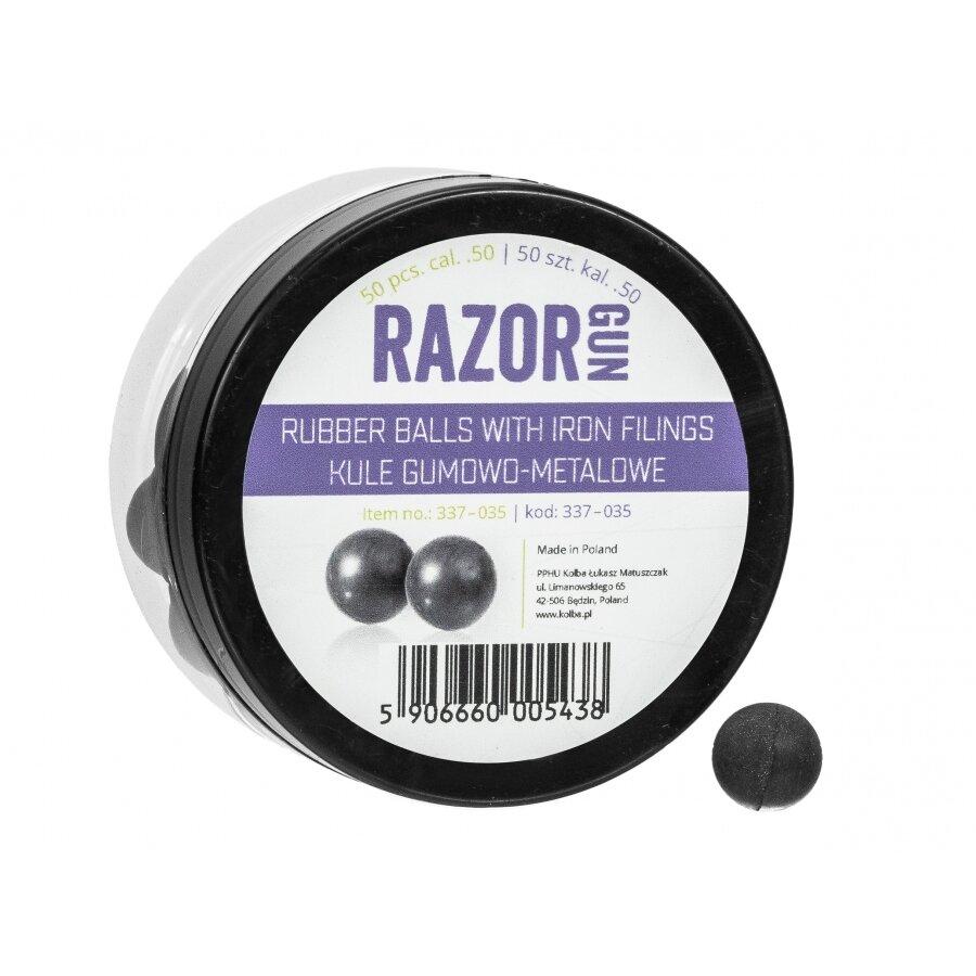 Kuličky gumovo ocelové RAM RazorGun 0.5 50 ks