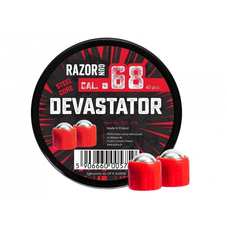 Kuličky RAM ocelové RazorGun Steel Core Devastator cal 0.68 - 40 ks