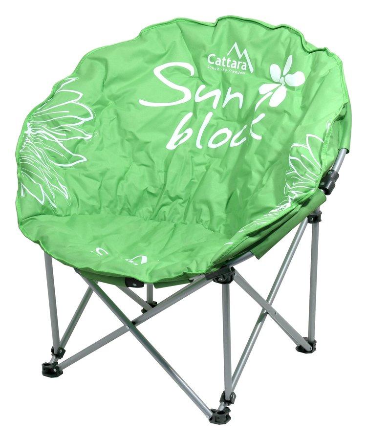 Zelená skladací židle Cattara FLOWERS