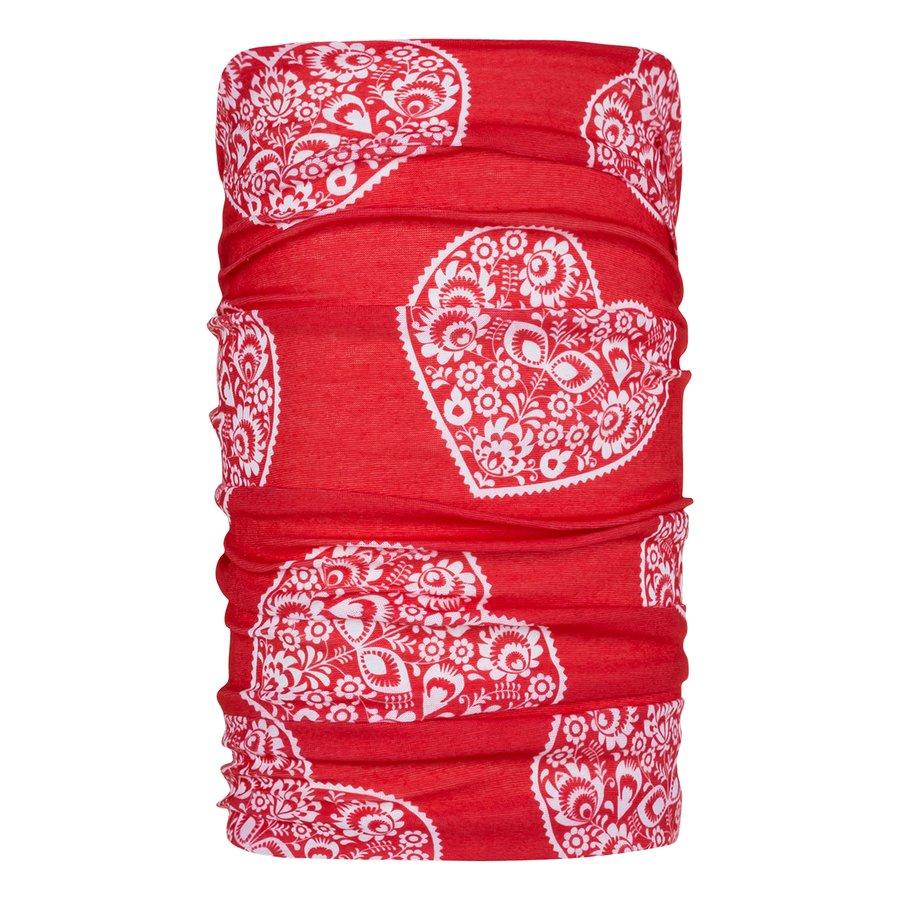 Červený funkční šátek Unitube, Zajo