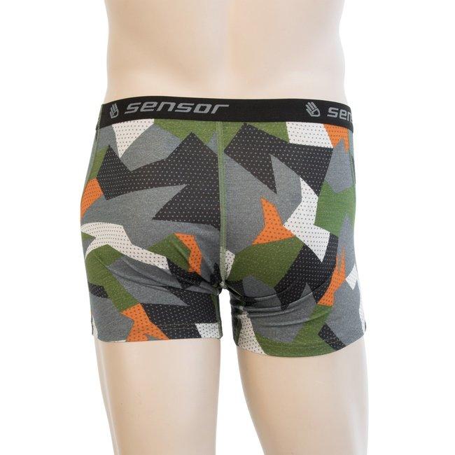 Zelené merino pánské boxerky MERINO IMPRESS, Sensor - velikost XL