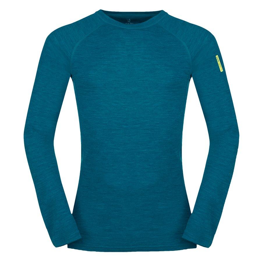 Černé pánské tričko s dlouhým rukávem Bergen Merino T-shirt LS, Zajo - velikost XS