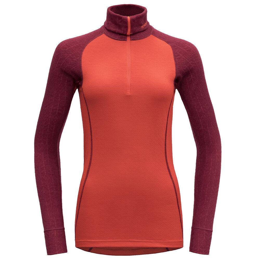 Merino tričko Devold DUO ACTIVE WOMAN ZIP NECK - velikost M