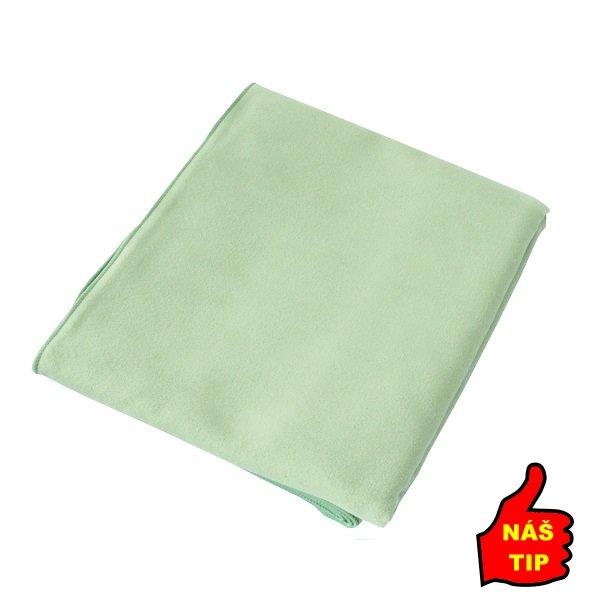 Zelený rychleschnoucí ručník Suede, Jurek S+R - velikost XS a 40x35 cm