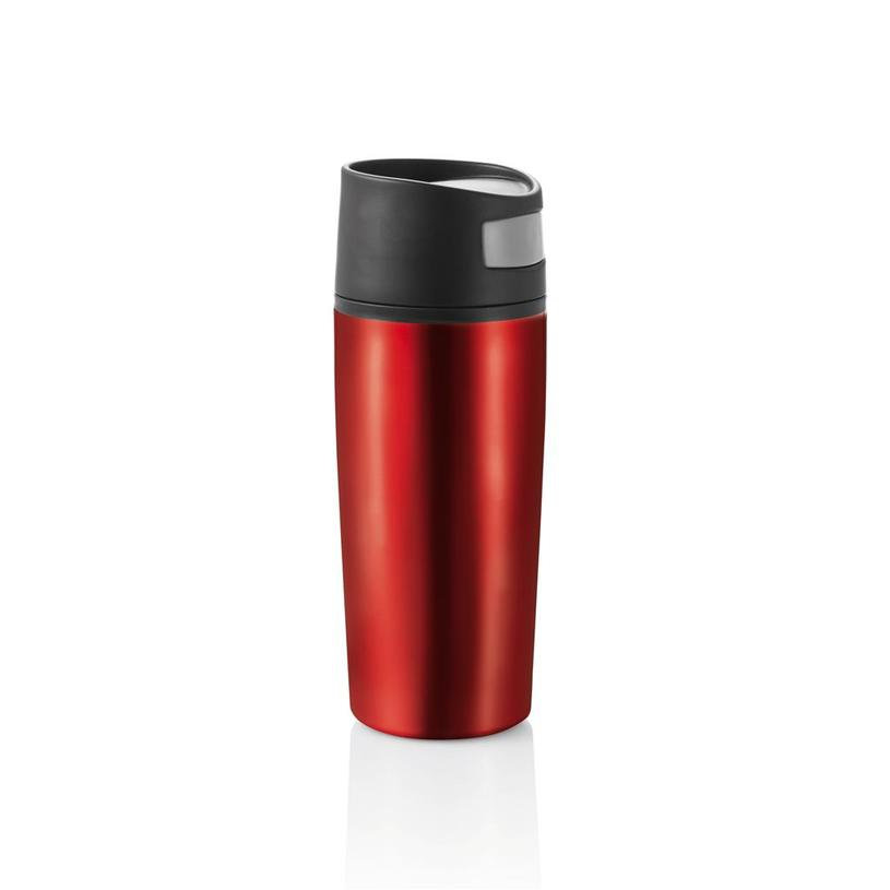Červený hrnek termo XD Design Auto leak - objem 300 ml