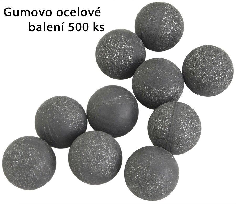 Kuličky RAM gumovo ocelové T4E Rubber Ball RB Steel .50 - 500 ks