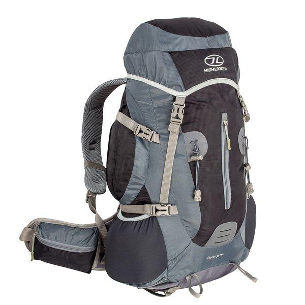 Šedý turistický batoh Rocky 35+5, Highlander - objem 40 l