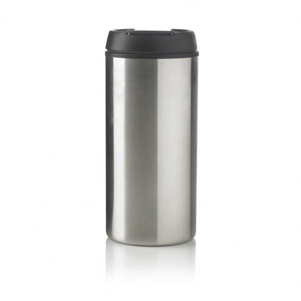 Stříbrný hrnek termo Metro, XD Design - objem 300 ml