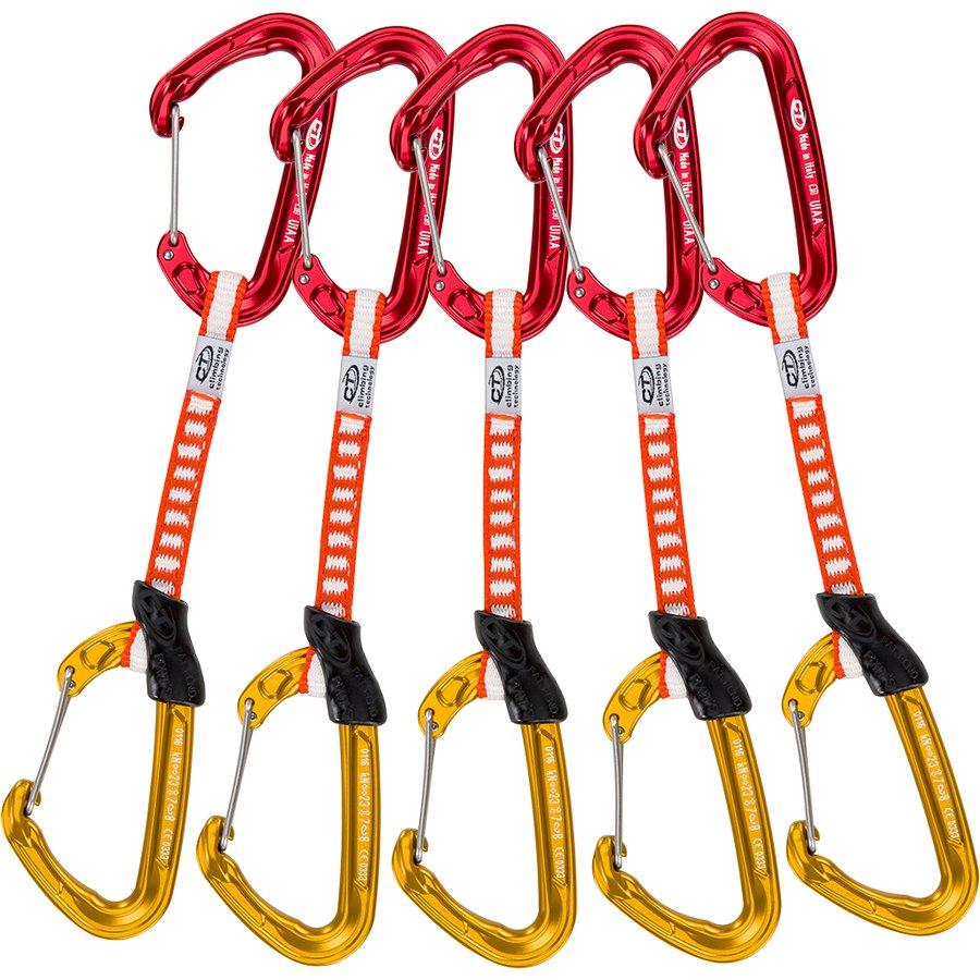 Drátová expreska sada 5 ks FLY WEIGHT EVO SET DY, Climbing Technology - délka 12 cm