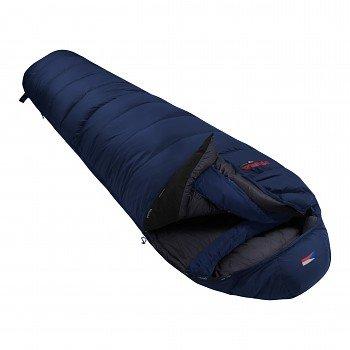 Modrý péřový zimní spacák s pravým zipem POLAR 1200, Prima - délka 220 cm