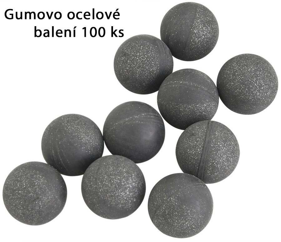 Kuličky RAM gumovo ocelové T4E Rubber Ball RB Steel .50 - 100 ks