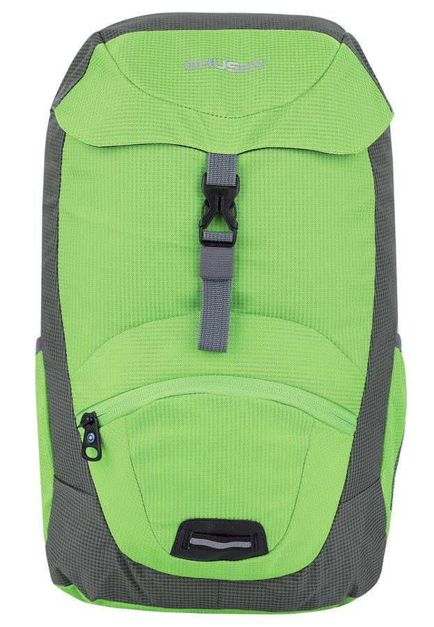 Zelený turistický dětský batoh Junny 15l, Husky - objem 15 l