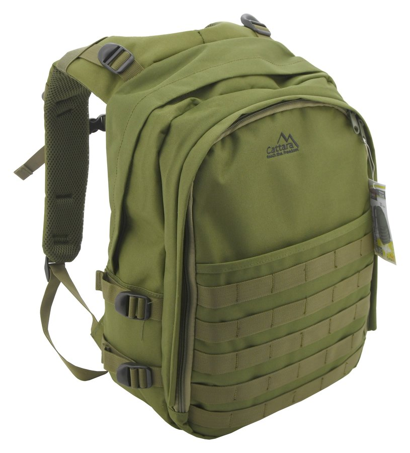 Zelený turistický batoh OLIVE, Cattara - objem 30 l