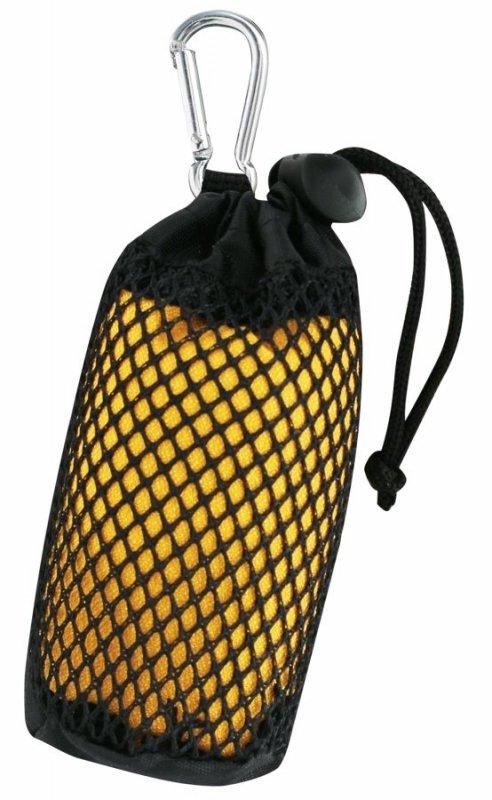 Žlutý rychleschnoucí ručník Microfiber Mini Towel, TravelSafe - velikost S a 40x40 cm
