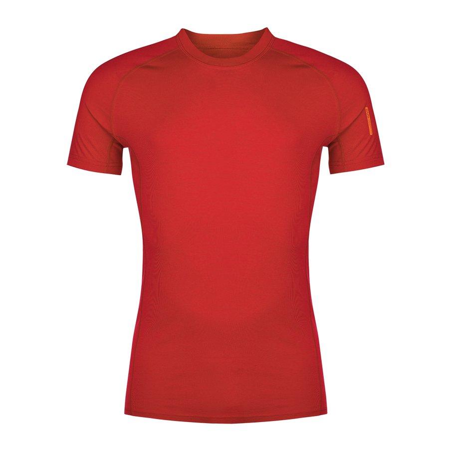 Červené pánské tričko Bjorn Merino Tshirt SS, Zajo - velikost L