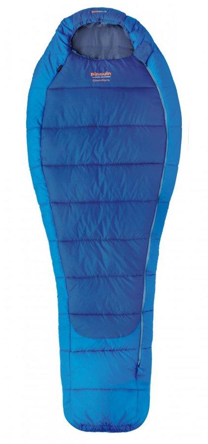Modrý zimní spacák s pravým zipem COMFORT, Pinguin - délka 185 cm