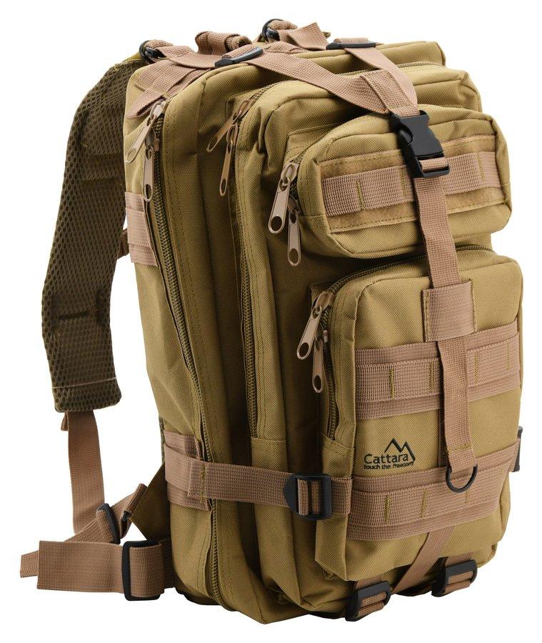 Hnědý turistický batoh ARMY, Cattara - objem 30 l