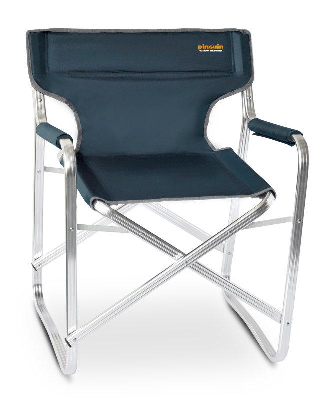 Modrá skladací židle Pinguin Director chair
