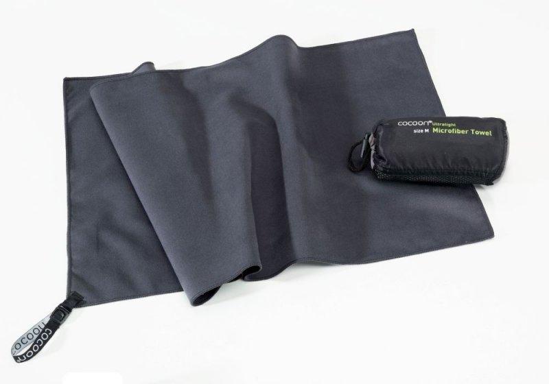 Šedý rychleschnoucí ručník Cocoon manatee grey - velikost M a 90x50 cm