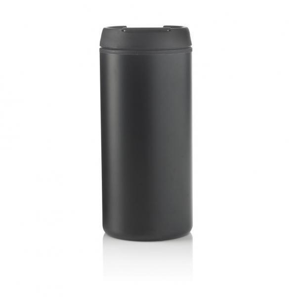 Černý hrnek termo Metro, XD Design - objem 300 ml