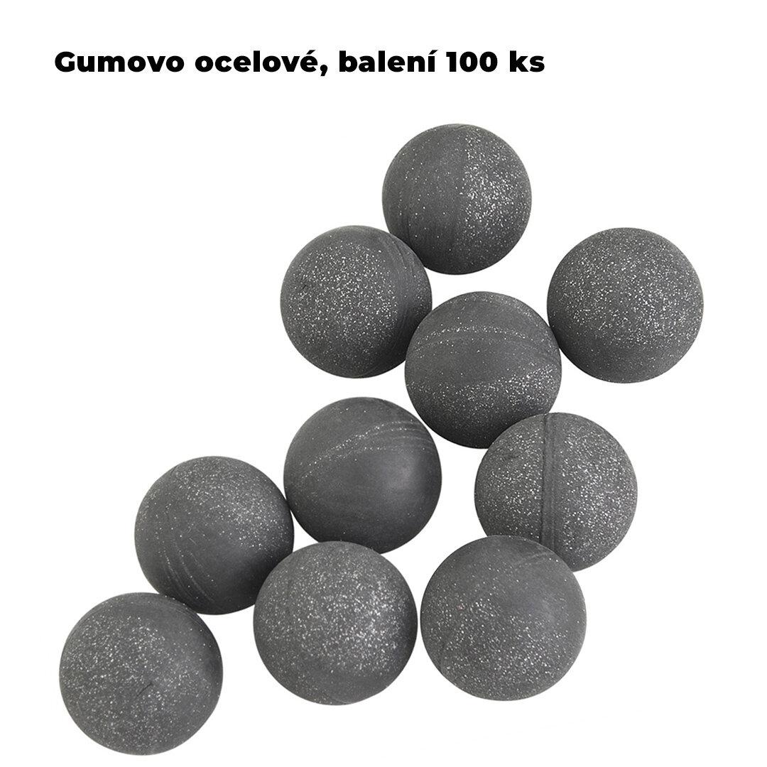 Kuličky RAM gumovo ocelové T4E Rubber Ball  Steel cal.68 - 100 ks