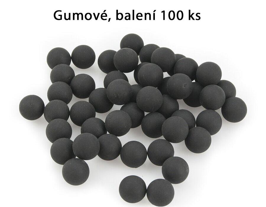 Kuličky RAM gumové Umarex T4E Rubber Ball RB .50 polymer - 100 ks