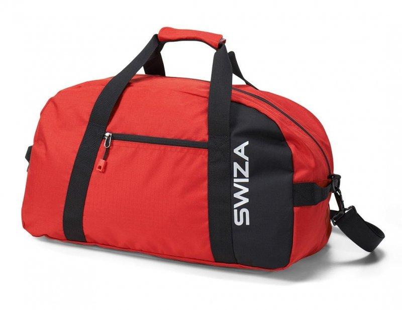 Červená cestovní taška Marcius, Swiza
