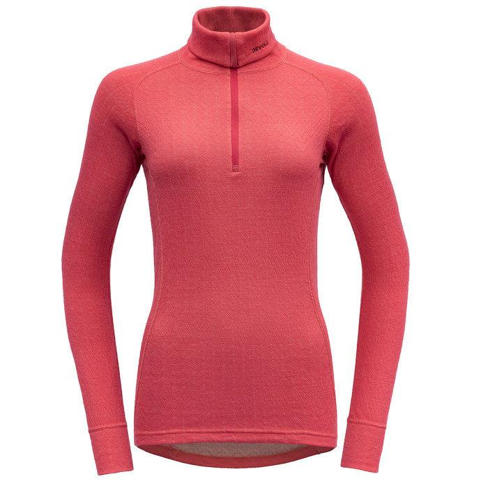 Merino dámské tričko DUO ACTIVE WOMAN ZIP NECK, Devold