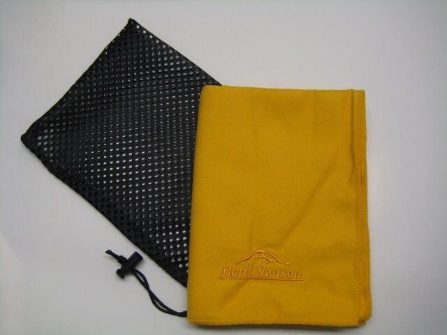 Žlutý rychleschnoucí ručník Tramp, Fjord Nansen - velikost L a 120x60 cm