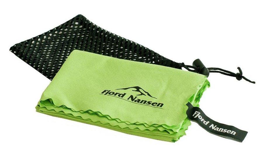 Zelený rychleschnoucí ručník Fjord Nansen Tramp Light - velikost M a 40x90 cm