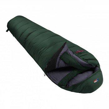 Zelený péřový zimní spacák s levým zipem POLAR 1000, Prima - délka 220 cm