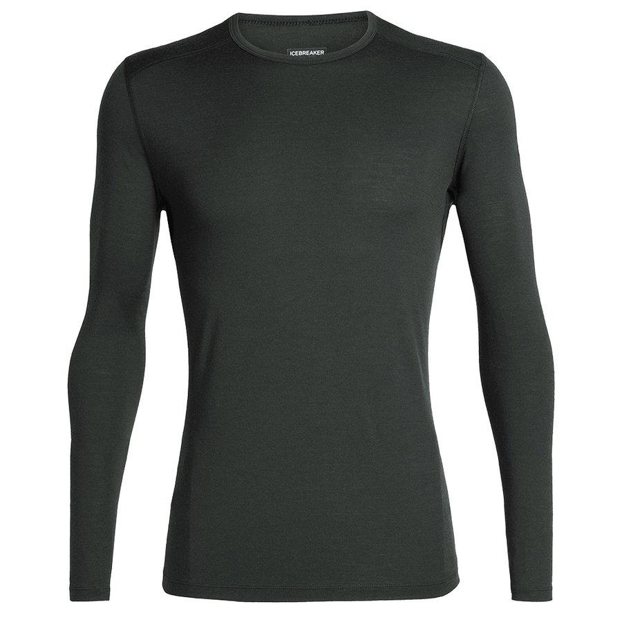 Zelené merino pánské tričko Mens 200 Oasis LS Crewe, Icebreaker - velikost XL