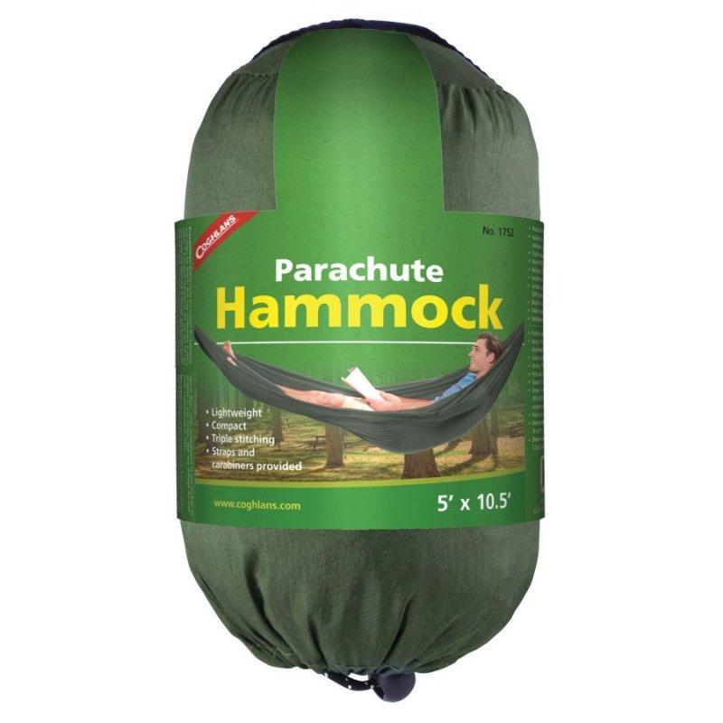 Houpací síť Single Green Parachute Hammock, Coghlan´s