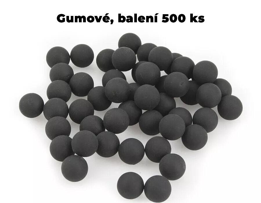 Kuličky RAM gumové Umarex T4E Rubber Ball RB .50 polymer - 500 ks