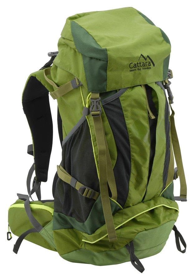 Zelený turistický batoh GREEN, Cattara - objem 45 l