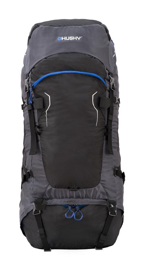 Černý turistický batoh Ranis 70l, Husky - objem 70 l