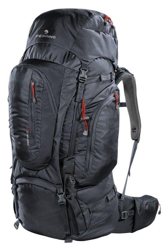 Černý turistický batoh TRANSALP 80 2019, Ferrino - objem 80 l