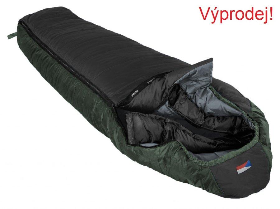 Černý třísezónní spacák s pravým zipem MAKALU 200/90, Prima - délka 200 cm