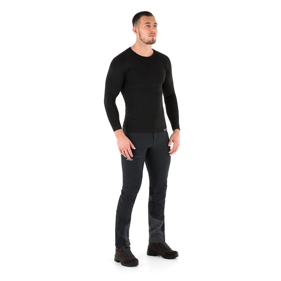 Černé pánské tričko s dlouhým rukávem Contour M T-shirt LS, Zajo - velikost S