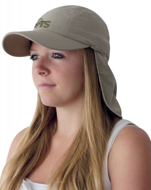 Béžová kšiltovka DESERT CAP, TravelSafe
