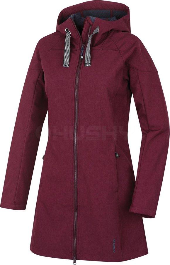 Červený dámský kabát Sara L, Husky - velikost XL