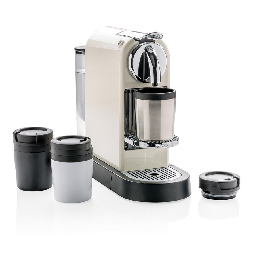Stříbrný hrnek termo Coffee to Go, XD Design - objem 160 ml