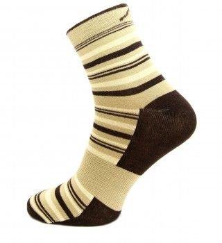 Béžové pánské ponožky Stripe, Fjord Nansen - velikost 35-38 EU