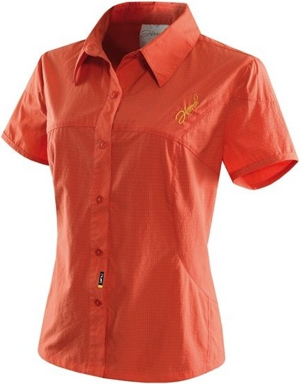 Oranžová dámská košile s krátkým rukávem aura lady, Hannah - velikost S