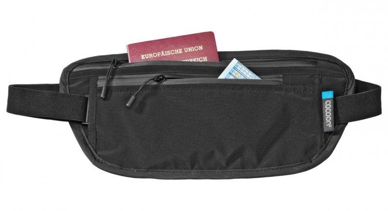 Černá skrytá bezpečnostní ledvinka Secret Waist Wallet, Cocoon