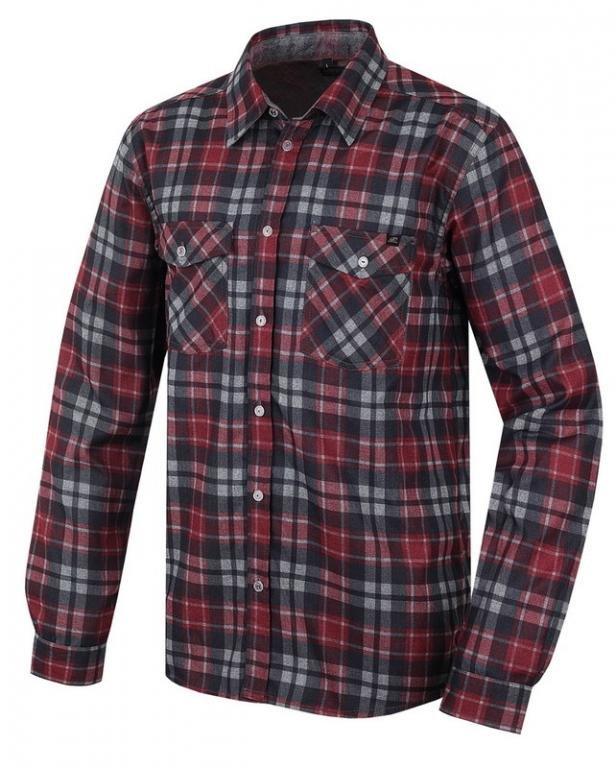 Červená pánská košile s dlouhým rukávem Bendon, Hannah - velikost XL