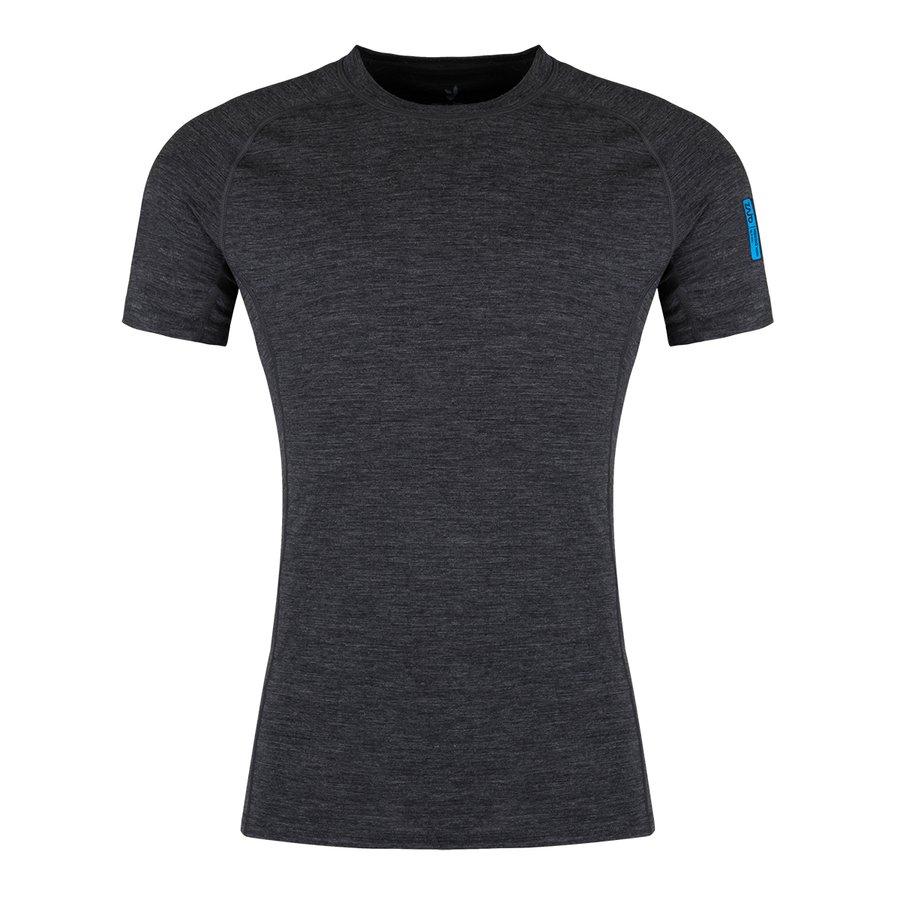 Černé merino pánské tričko Bjorn Merino Tshirt SS, Zajo