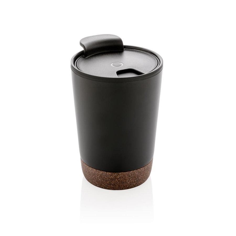 Černý hrnek termo Cork, XD Design - objem 300 ml